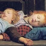 Auf_dem_Ofen_1895 sleeping children
