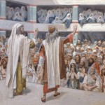 Moses & Aaron speak to the people, by James Tissot