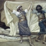 Noah's sons cover him in his drunkenness, by James Tissot