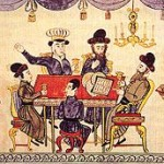 The Seder, a 19th century print from the Ukraine