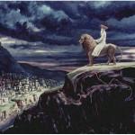 Painting depicting Elijah the Prophet, by Zalman Kleinman