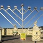 large menorah in public