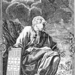 17th century depiction of Noah with the plans for the ark