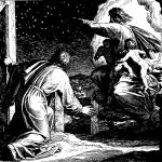 God shows Abraham the stars, woodcut by Julius Schnorr von Carolsfeld