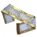 pageant sash miss world beauty contest