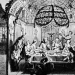 Sukkah meal, by Bernard Picart, 1722
