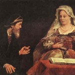 Painting depicting Esther & Mordechai, 1685