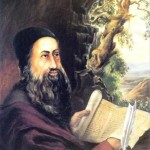 An artist's depiction of Rabbi Shimon Bar Yochai