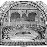 A depiction of a Jewish court (the Sanhedrin) in session