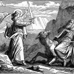 The angel meets Balaam, Foster Bible Pictures, 1897