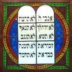 ten commandments glass