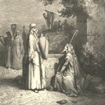 Eliezer & Rebekah at the well, by Gustave Dore