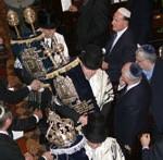 Returning Torahs to the ark