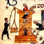 Slavery in Egypt, from the Barcelona Haggadah, 14th century