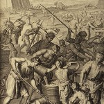 Slavery in Egypt, from a Dutch bible, 1728