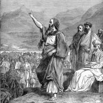Moses speaks to the Israelites, engraving by Henri Félix Emmanuel Philippoteaux