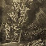"Jacob's ladder, illustration from the 1728 ""Figures de la Bible"""