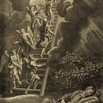 "Jacob's dream, illustration from the 1728 ""Figures de la Bible"""