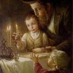 Lighting chanukah candles
