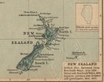 New Zealand map colonial