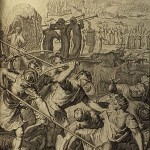 The Midianites slain by Israel, from the Figures de la Bible, 1728