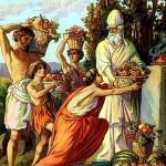 Offering the bikkurim to the kohen
