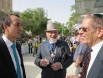 Rabbi Apple with Dave Sharma (Australian Ambassador to Israel) & Alan Webber