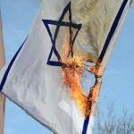 Israel flag burn