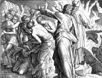 The destruction of Korach's followers, by Julius Schnorr von Carolsfeld