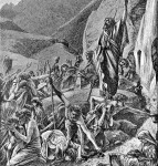 Moses has struck the rock, by Charles Foster, 1897