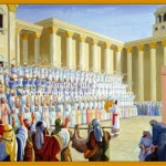 The Levites singing in the Temple