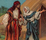 Jacob & Rebekah, from a 1906 Bible card