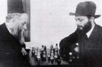 """Nicht Torah Lernen"" - the Lubavitcher Rebbe playing chess on ""Nittel"""