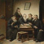 """At the Rabbi's"", painting by Carl Schleicher (c. 1859-1871)"