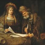 Esther & Mordechai, by Aert de Gelder, 1675